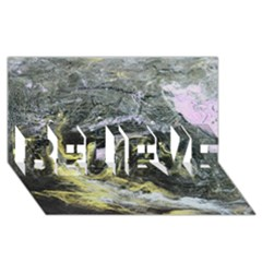 Black Ice Believe 3d Greeting Card (8x4)