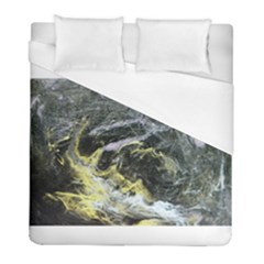 Black Ice Duvet Cover Single Side (Twin Size) by timelessartoncanvas
