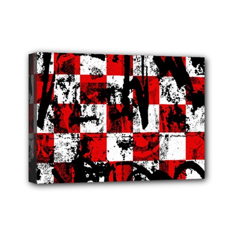Emo Checker Graffiti Mini Canvas 7  X 5  by ArtistRoseanneJones
