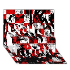 Emo Checker Graffiti You Rock 3d Greeting Card (7x5)  by ArtistRoseanneJones