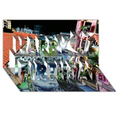 Colour Street Top Happy Birthday 3d Greeting Card (8x4)