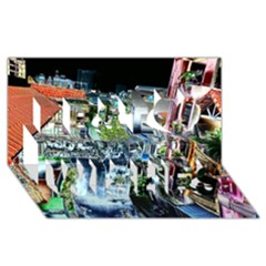 Colour Street Top Best Wish 3d Greeting Card (8x4)  by InsanityExpressed