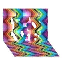 Aztec 3 Love 3d Greeting Card (7x5)  by theimagezone