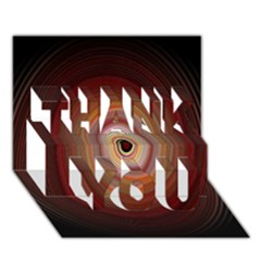 Colour Twirl Thank You 3d Greeting Card (7x5)  by InsanityExpressed