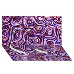 Colourtile Twin Heart Bottom 3d Greeting Card (8x4)