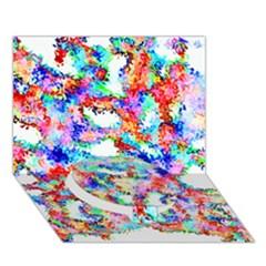 Soul Colour Light Circle Bottom 3d Greeting Card (7x5)