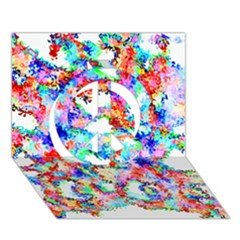 Soul Colour Light Peace Sign 3d Greeting Card (7x5)  by InsanityExpressed