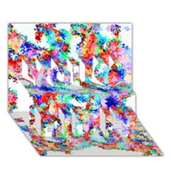 Soul Colour Light You Did It 3d Greeting Card (7x5) by InsanityExpressed