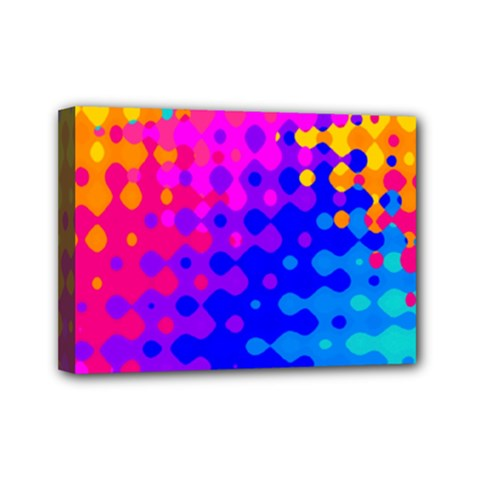 Totally Trippy Hippy Rainbow Mini Canvas 7  x 5  by KirstenStar