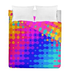 Totally Trippy Hippy Rainbow Duvet Cover (Twin Size) by KirstenStar