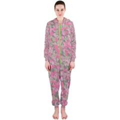 Pinkbunnyflage Hooded Jumpsuit (ladies)  by TwoPinesFarm