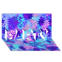 Blue And Purple Marble Waves Party 3d Greeting Card (8x4)  by KirstenStar