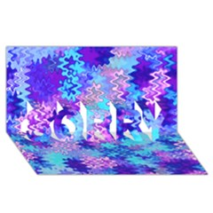 Blue And Purple Marble Waves Sorry 3d Greeting Card (8x4)  by KirstenStar
