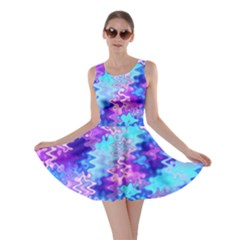 Blue and Purple Marble Waves Skater Dresses by KirstenStar