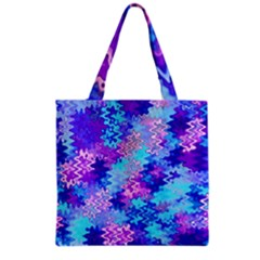 Blue And Purple Marble Waves Grocery Tote Bags by KirstenStar