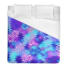Blue And Purple Marble Waves Duvet Cover Single Side (twin Size) by KirstenStar