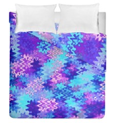 Blue And Purple Marble Waves Duvet Cover (full/queen Size) by KirstenStar