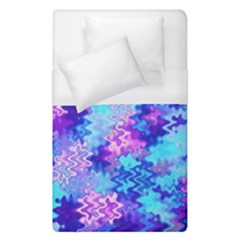 Blue And Purple Marble Waves Duvet Cover Single Side (single Size) by KirstenStar