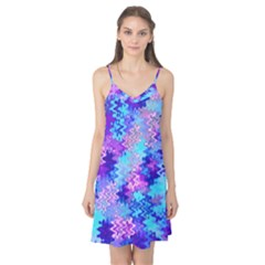 Blue And Purple Marble Waves Camis Nightgown