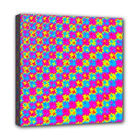 Crazy Yellow And Pink Pattern Mini Canvas 8  X 8  by KirstenStar