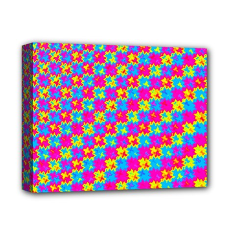 Crazy Yellow And Pink Pattern Deluxe Canvas 14  X 11  by KirstenStar