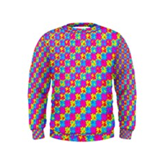 Crazy Yellow And Pink Pattern Boys  Sweatshirts by KirstenStar