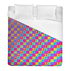 Crazy Yellow And Pink Pattern Duvet Cover Single Side (twin Size) by KirstenStar