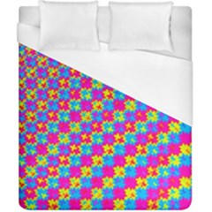 Crazy Yellow and Pink Pattern Duvet Cover Single Side (Double Size) by KirstenStar