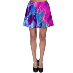 Stormy Pink Purple Teal Artwork Skater Skirts by KirstenStar