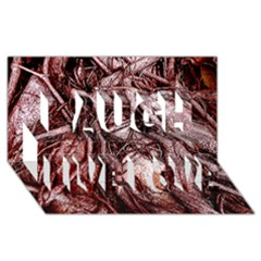 The Bleeding Tree Laugh Live Love 3d Greeting Card (8x4)