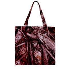 The Bleeding Tree Zipper Grocery Tote Bags