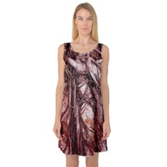The Bleeding Tree Sleeveless Satin Nightdresses by InsanityExpressed