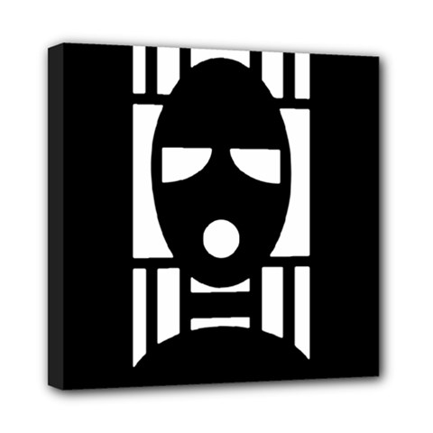 Masked Mini Canvas 8  X 8  by ArtistRoseanneJones