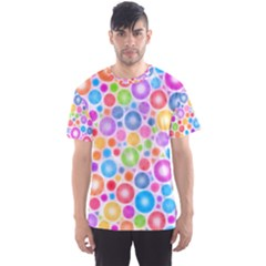 Candy Color s Circles Men s Sport Mesh Tee by KirstenStarFashion