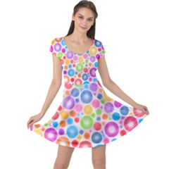 Candy Color s Circles Cap Sleeve Dress