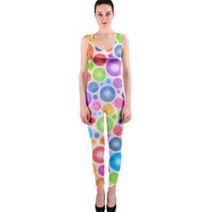 Candy Color s Circles OnePiece Catsuit by KirstenStarFashion