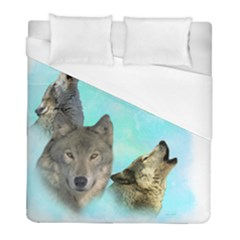 Wolves Shiney Grim Moon 3000 Duvet Cover Single Side (Twin Size) by ratherkool