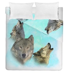 Wolves Shiney Grim Moon 3000 Duvet Cover (full/queen Size) by ratherkool