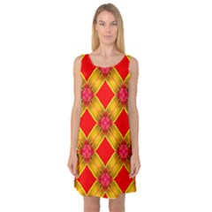 Cute Pretty Elegant Pattern Sleeveless Satin Nightdresses by creativemom