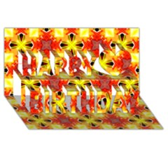Cute Pretty Elegant Pattern Happy Birthday 3d Greeting Card (8x4)  by creativemom