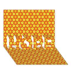 Cute Pretty Elegant Pattern Hope 3d Greeting Card (7x5)  by creativemom