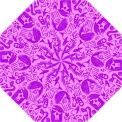 Purple Skull Sketches Hook Handle Umbrellas (small)