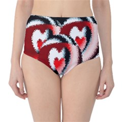 Heart Time 3 High Waist Bikini Bottoms by InsanityExpressedSuperStore