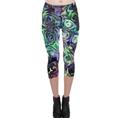Colour Play Flowers Capri Leggings by InsanityExpressedSuperStore