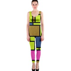 Squares And Rectangles Onepiece Catsuit by LalyLauraFLM