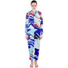 Wavy Chaos Hooded Onepiece Jumpsuit