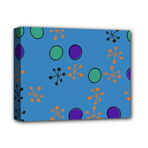 Circles And Snowflakes Deluxe Canvas 14  X 11  (stretched) by LalyLauraFLM