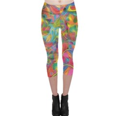 Colorful Autumn Capri Leggings  by KirstenStarFashion