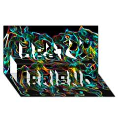 Soul Colour Best Friends 3d Greeting Card (8x4)