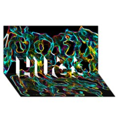 Soul Colour Hugs 3d Greeting Card (8x4)